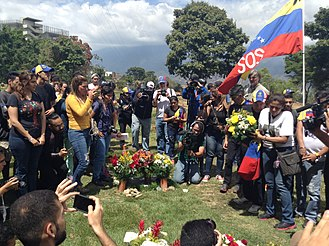 Timeline of the 2018 Venezuelan protests - Demonstrators gather at the East Cemetery during the United for Life march on 12 February 2018