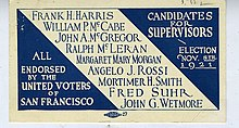 Margaret Mary Morgan political campaign card, 1921 -reverse.JPG