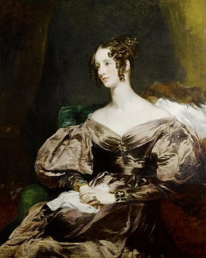 Richard Curzon-Howe, 1st Earl Howe - Margaret Sarah Carpenter: Portrait of Harriet, Countess Howe, 1834