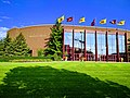 Mariucci Arena with flags.jpg