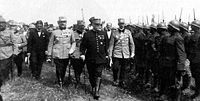Marshal Joffre inspecting Romanian troops during WWI