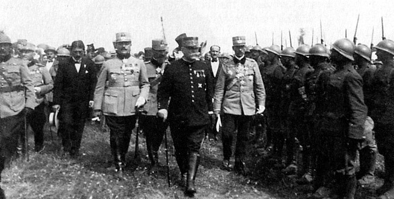 Marshal Joffre inspecting Romanian troops during WWI.jpg