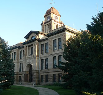 Marshall County, South Dakota - Image: Marshall County, SD, courthouse from NW 1