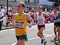 Martin Dent (Australia) ^ Jesper Faurschou (Denmark) - London 2012 Men's Marathon.jpg