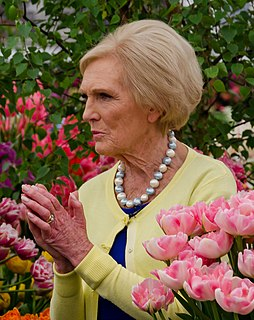 Mary Berry English food writer and television presenter