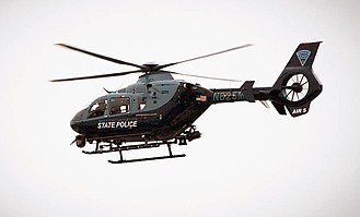 Massachusetts State Police - Taken while hovering over Worcester, Massachusetts, on January 14, 2015