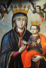 Obraz znaleziony dla: matka boska Różańcowa z sandomierza obraz