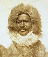 Photograph of Matthew Henson dressed in polar gear