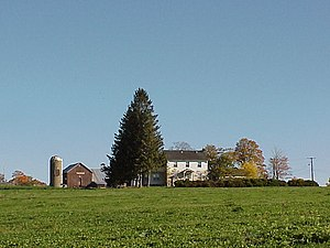 Max Yasgur's farm, where the Woodstock Festiva...