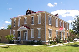 Tilden, Texas - The McMullen County Courthouse in Tilden