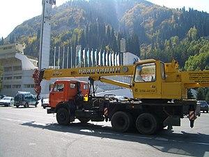 Galich, Russia - Galich-made Galichanin cranes can be encountered as far away as in Medeo, Kazakhstan
