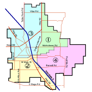 City Ward Map Medford, Oregon Ward Map.png