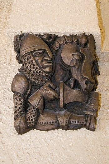 A close-up of an artisan's representation of a...