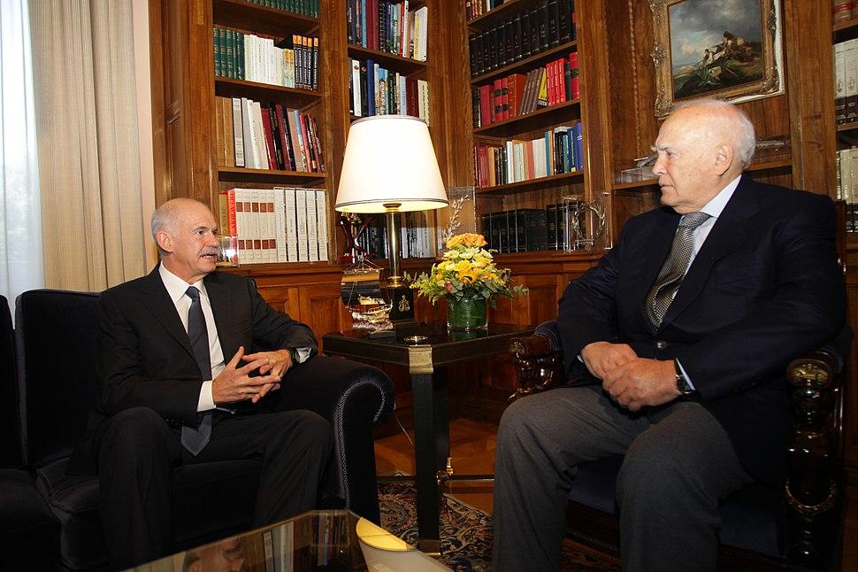 Meeting Papoulias, Papandreou - 5 November 2011 (1)
