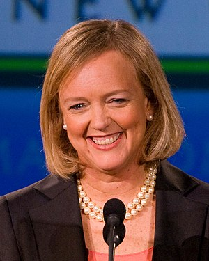 Meg Whitman speaks at the Tech Museum in San J...