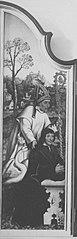 Beweinungsaltar: Hl. Hugo von Lincoln mit Stifter