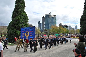 1st Battalion, Royal Australian Regiment - Ex-servicemen from 1 RAR during the 2009 Melbourne Anzac Day march