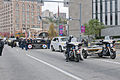 Members of a Pittsburgh police motorcycle unit escort U.S. Soldiers assigned to the 316th Expeditionary Sustainment Command during the annual Veterans Day parade in Pittsburgh Nov. 11, 2013 131111-A-BG398-004.jpg