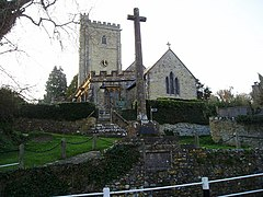 Membury Church and Village Cross - geograph.org.uk - 1252135.jpg