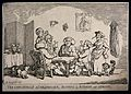 Men wearing wigs sitting around a table playing cards. Etchi Wellcome V0040218.jpg