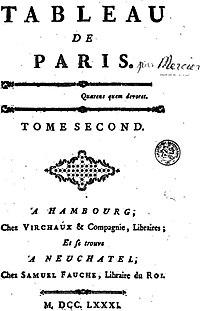 Tableau de Paris cover