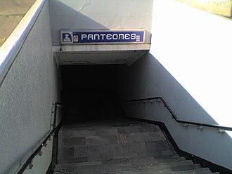 Metro Panteones - Image: Metro Panteones Entrance