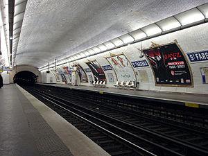 Saint-Fargeau (Paris Métro) - Image: Metro de Paris Ligne 3 bis Saint Fargeau 01