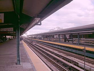 Mets–Willets Point (IRT Flushing Line) - Platforms of the Mets–Willets Point station