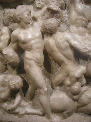 Battle of the Centaurs (Michelangelo) - Image: Michelangelo, centauromachia, 1492 ca. 07
