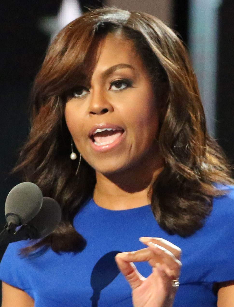Michelle Obama at the DNC July 2016 (cropped)