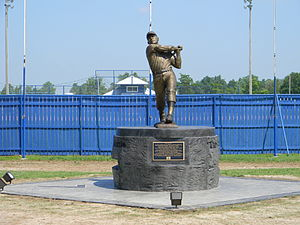 Monument to Mickey Mantle in Commerce Oklahoma.