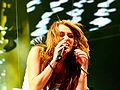 Miley Cyrus during the Wonder World concert in Detroit 6.jpg