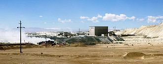 Qaidam Basin - Mine in Qaidam (Tsaidam) Desert