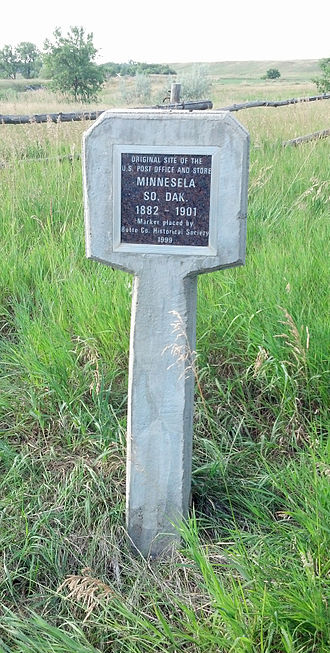 Minnesela, South Dakota - The former site of the post office and store.