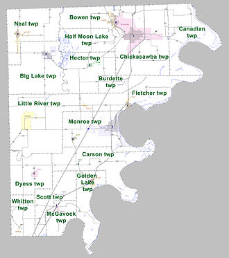 Mississippi County, Arkansas - Townships in Mississippi County, Arkansas as of 2010