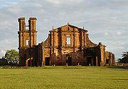 As ruínas jesuítas de São Miguel das Missões. Patrimônio da Humanidade desde 1983 no estado do Rio Grande do Sul.
