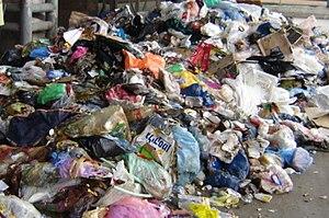 Mixed municipal waste at Hiriya transfer stati...