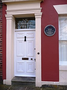Mo Mowlem's plaque, 1 Summerhill Terrace, Newcastle - geograph.org.uk - 1738817.jpg