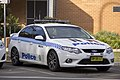 Monaro LAC Highway Patrol (MN 204) Ford FG Falcon XR6 Turbo parked at the front of the Wagga Wagga Police Station.jpg