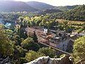 Monastère de Lluc, à Majorque, vu de la colline des Pujol des misteris.JPG