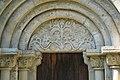 Monoszlói református templom oldalsó kapujának timpanonja.jpg