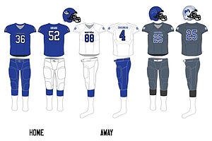 Montreal Carabins - Image: Montreal uniform