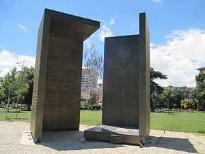 Rinia Park - Monument of the 100th anniversary of Independence of Albania in Tirana located in Rinia Park