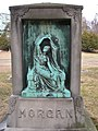 Morgan Family Monument (Seated Maiden by Henri Chapu), Springfield Cemetery, Springfield, MA 01.jpg