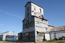 Grain elevator in Morison.