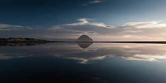 Morro Rock - Morro Rock at dusk
