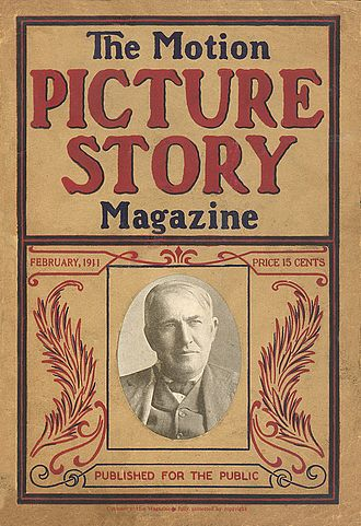 Motion Picture Magazine - Front cover of the first issue of The Motion Picture Story Magazine (February 1911)