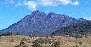 McPherson Range - The twin peaks of Mount Barney