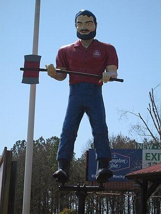 Muffler Men - Paul Bunyan Muffler Man in Rocky Mount, North Carolina