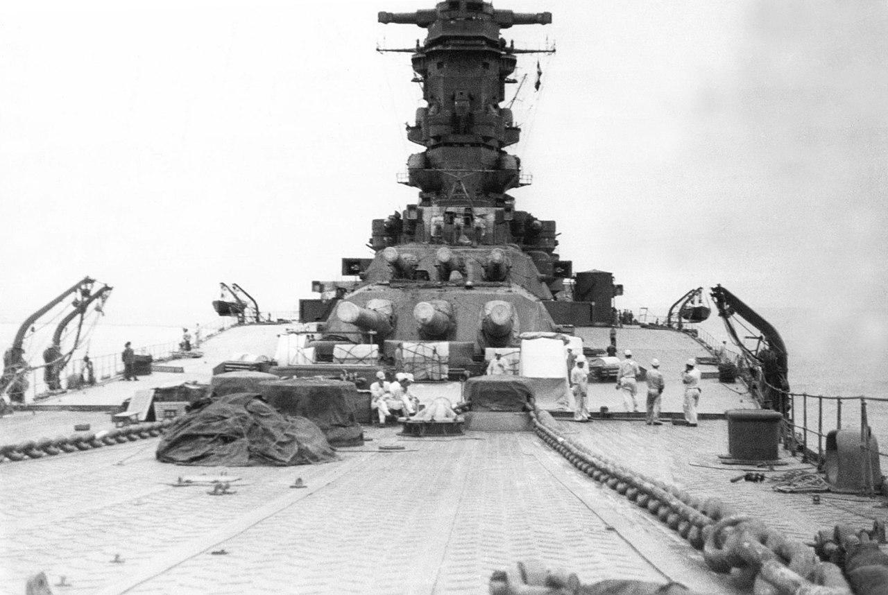 1942年8月竣工時の武蔵